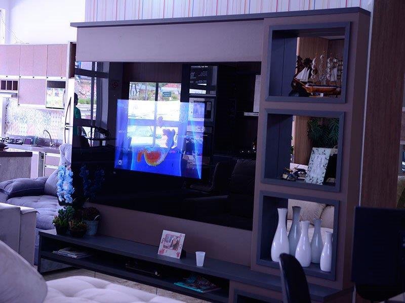 Painel tv planejado para sala